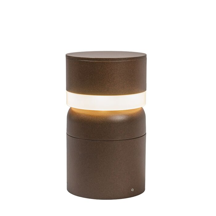 Buitenlamp-Tempest-paal-25cm-LED-roestkleur