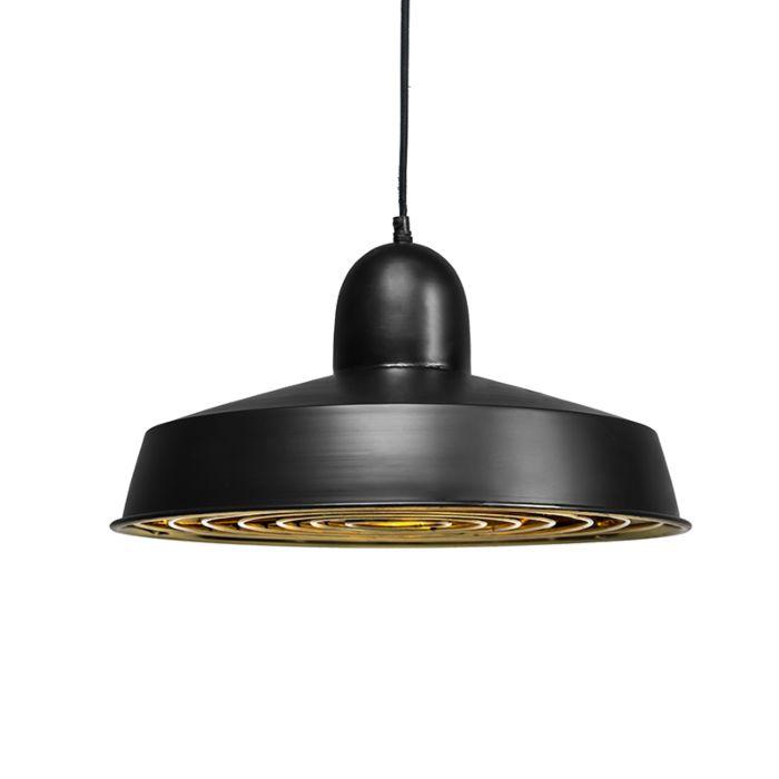 Hanglamp-Strijp-Deluxe-zwart-met-goud