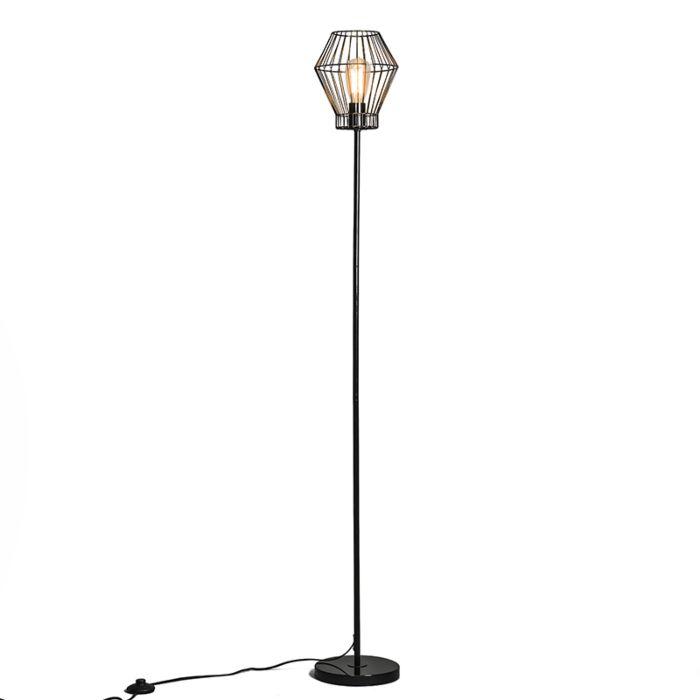Vloerlamp-Frame-E-zwart