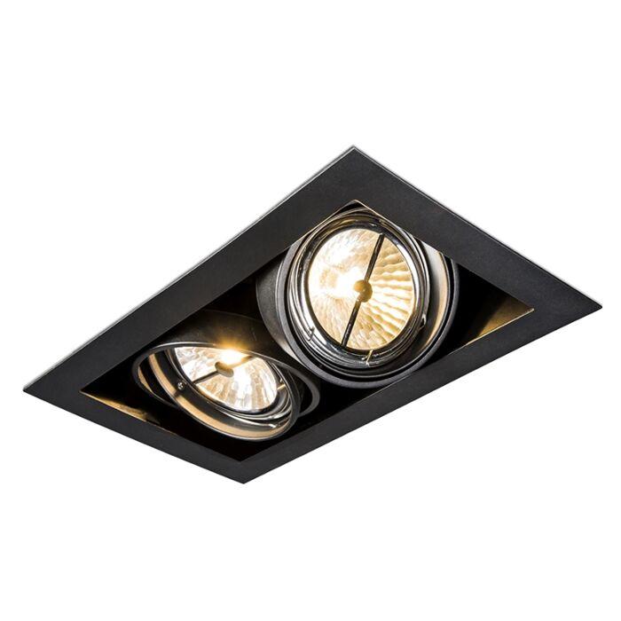 Rechthoekige-inbouwspot-zwart---Oneon-111-2
