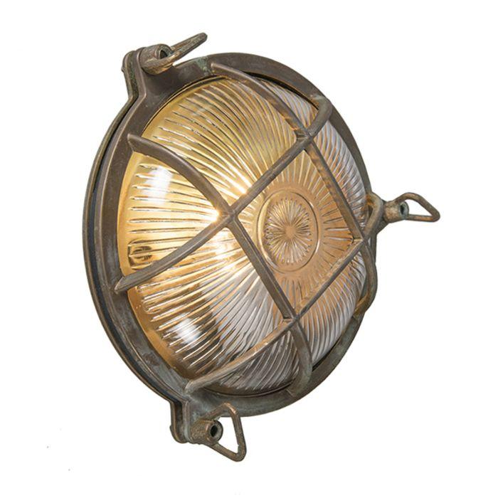 Wand--en-plafondlamp-bruin-IP44---Nautica-rond