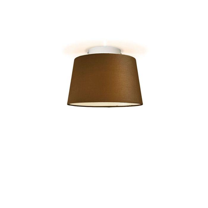 Plafonniere-Ton-rond-30-bruin