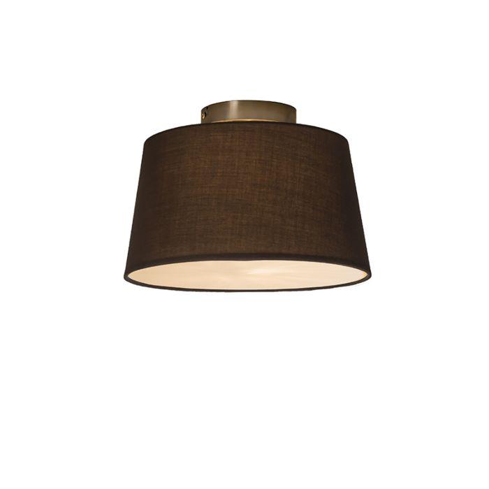 Plafonnière-Combi-30cm-bruin-met-blender