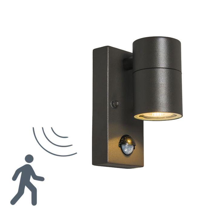 Buitenlamp-Solo-PIR-donkergrijs