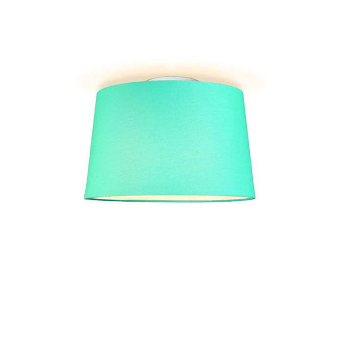 Plafonniere-Ton-rond-40-turquoise