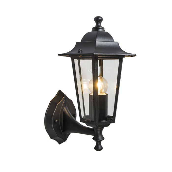 Klassieke-buitenlamp-zwart-IP44---New-Haven-up