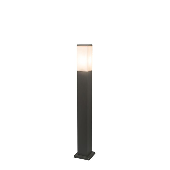 Moderne-buitenlamp-paal-donkergrijs-80-cm-IP44---Malios