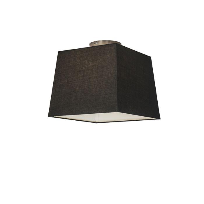 Plafonnière-Combi-30cm-vierkant-zwart