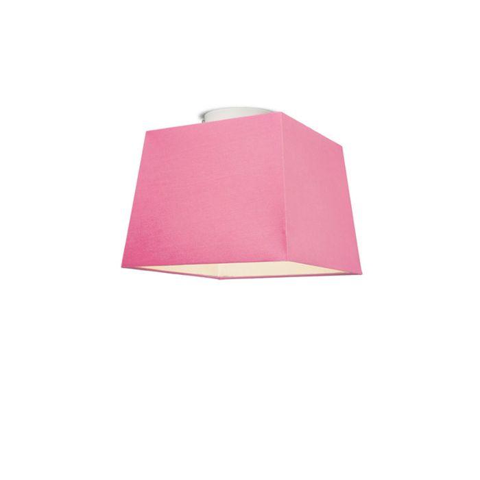 Plafonniere-Ton-vierkant-30-roze