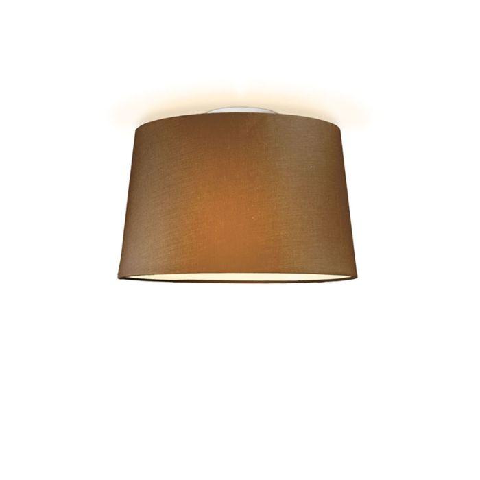 Plafonniere-Ton-rond-40-bruin