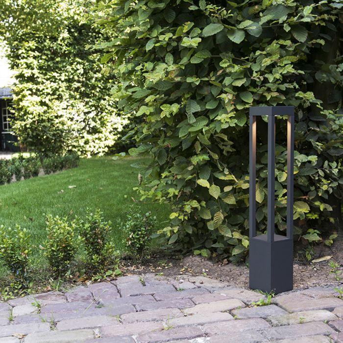 Buitenlamp-Krosno-vierkant-donkergrijs