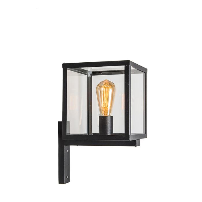 Industriële-vierkante-buitenwandlamp-zwart-IP23---Rotterdam
