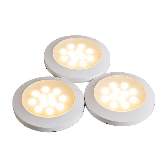 Cabinet-opbouwset-3-x-LED-wit