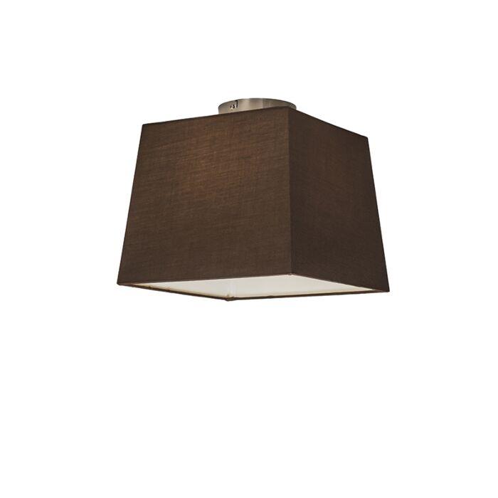Plafonnière-Combi-30cm-vierkant-bruin