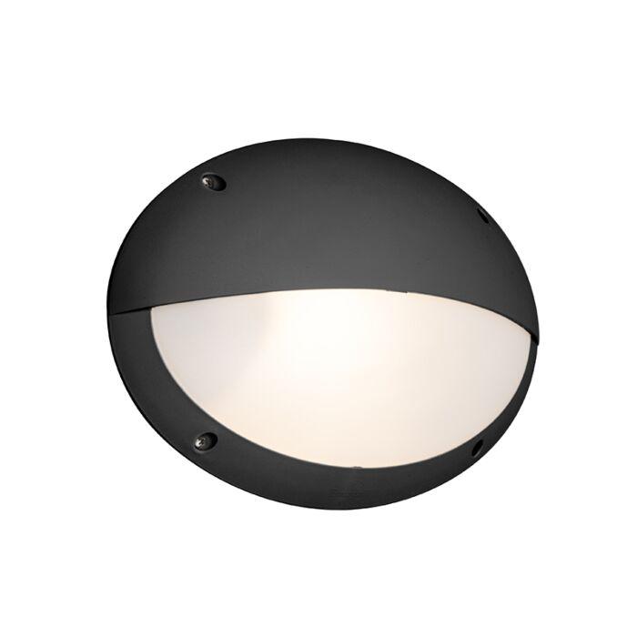 Wandlamp-zwart-IP65---Maddi