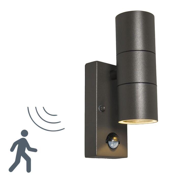 Buitenlamp-Duo-PIR-donkergrijs