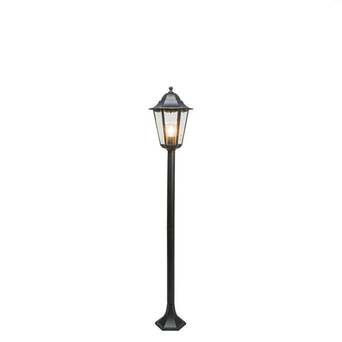 Klassieke-staande-buitenlamp-zwart-127,5cm-IP44---New-Orleans