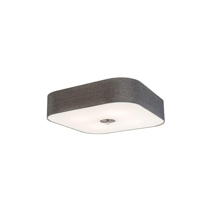 Plafondlamp-vierkant-grijs-50-cm---Drum-deluxe-Jute