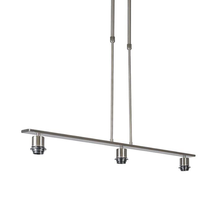Hanglamp-staal-zonder-kap---Combi-3-Deluxe