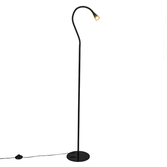 Vloerlamp-Swan-zwart-LED