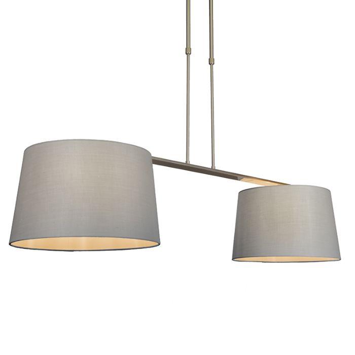 Hanglamp-Combi-Delux-2-kap-rond-40cm-grijs
