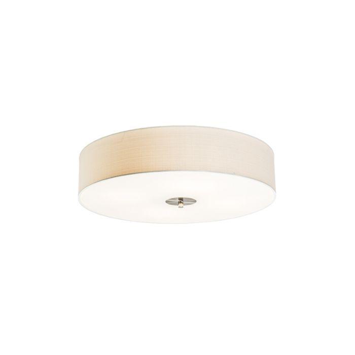 Landelijke-plafondlamp-creme-50-cm---Drum-Jute