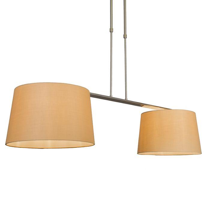 Hanglamp-Combi-Delux-2-kap-rond-40cm-beige