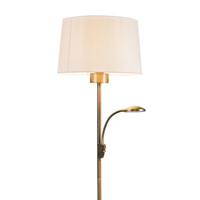 Vloerlamp-Trento-Combi-brons-met-kap