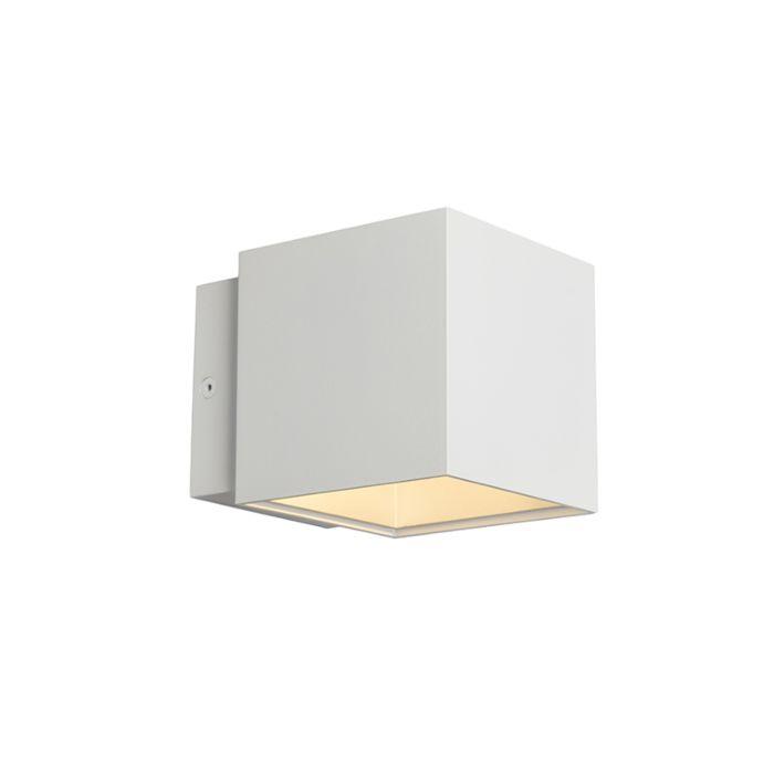 Wandlamp-Caja-wit/zilver