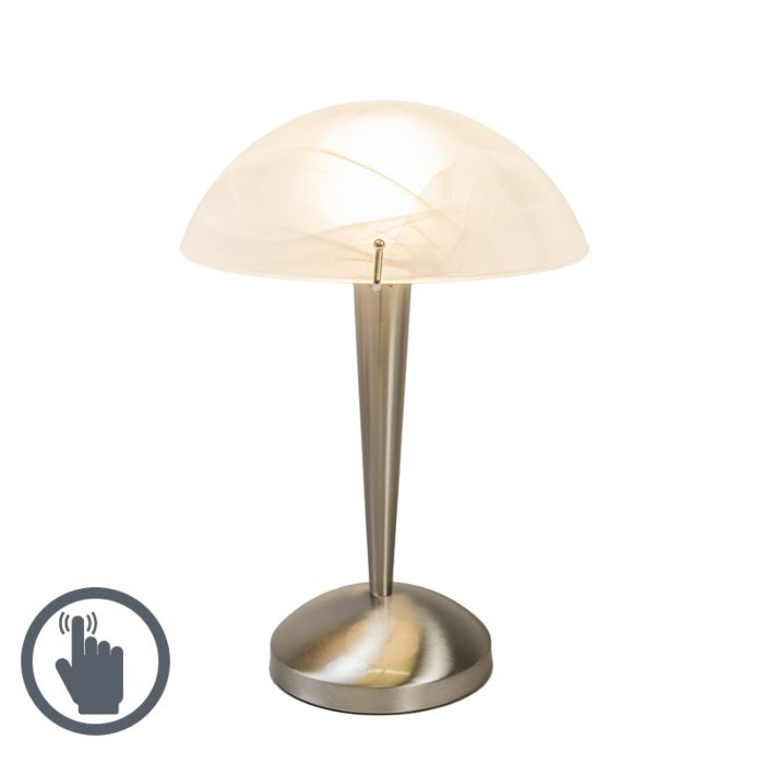 Touch-tafellamp-Boletum-staal