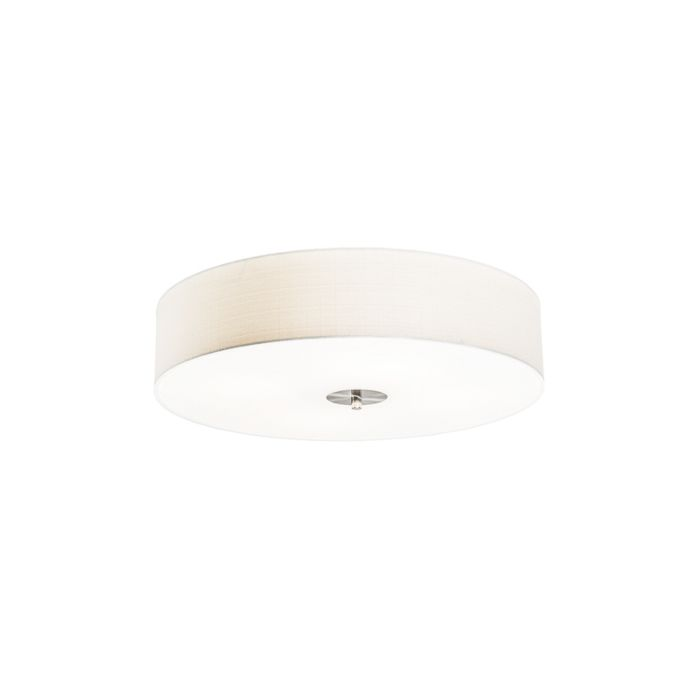 Landelijke-plafondlamp-wit-50-cm---Drum-Jute