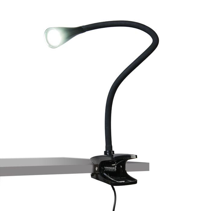 Moderne-klemlamp-zwart-incl.-LED--Swan