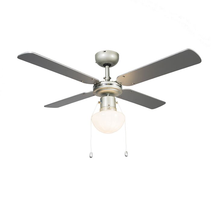 Plafondventilator-Wind-42-zilvergrijs