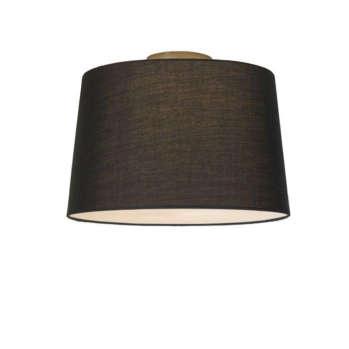 Plafonnière-Combi-40cm-zwart-met-blender