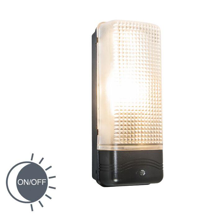 Moderne-buitenlamp-wand-met-schemerschakelaar---Mossa
