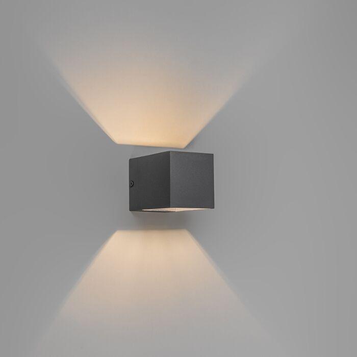 Moderne-wandlamp-donkergrijs---Transfer