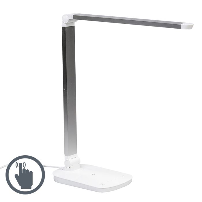 Tafellamp-Office-LED-wit-zilver