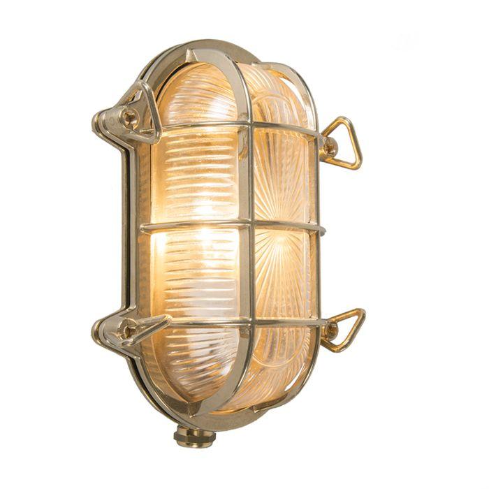 Wand--en-plafondlamp-goud-23/16,5-cm-IP44---Nautica-ovaal