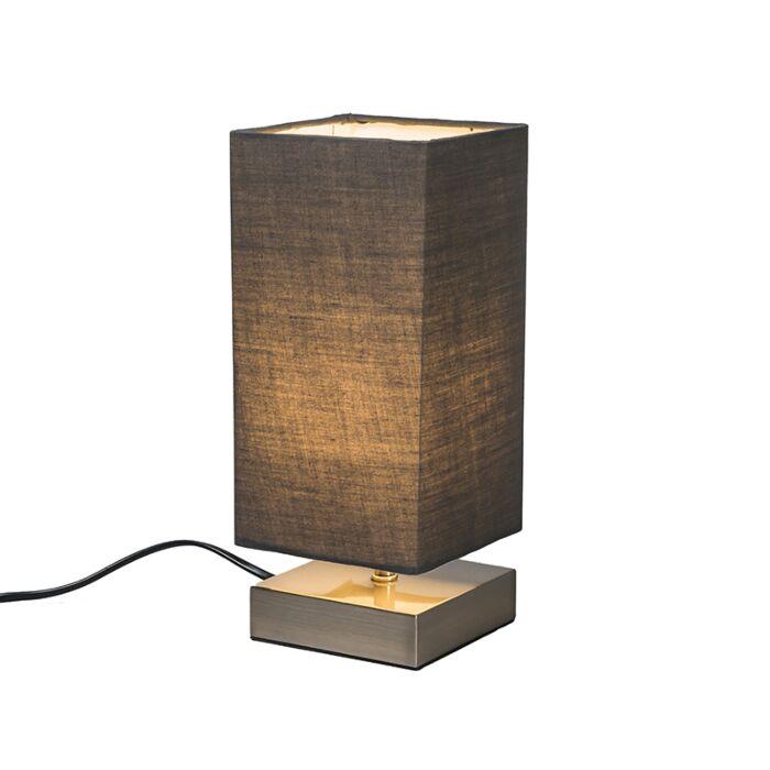 Moderne-tafellamp-grijs-met-staal---Milo