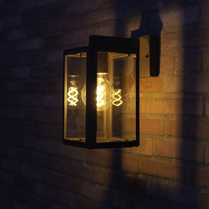 Industriële-buitenwandlamp-grijs-IP44---Sutton-down