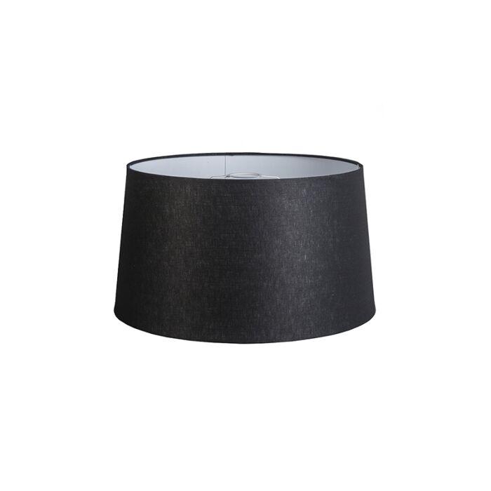 Linnen-lampenkap-zwart-45/25