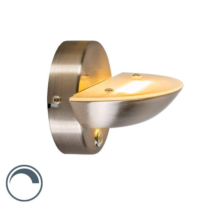 Wandlamp-Plato-staal