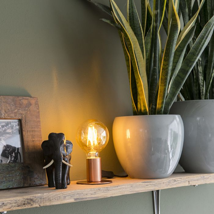 Romantische-tafellamp-koper---Facil