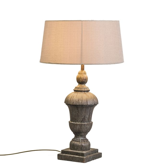 Tafellamp-Totem-met-creme-kap