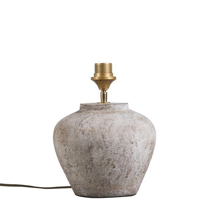 Klassieke-tafellamp-bruin-steen---Inca-XS