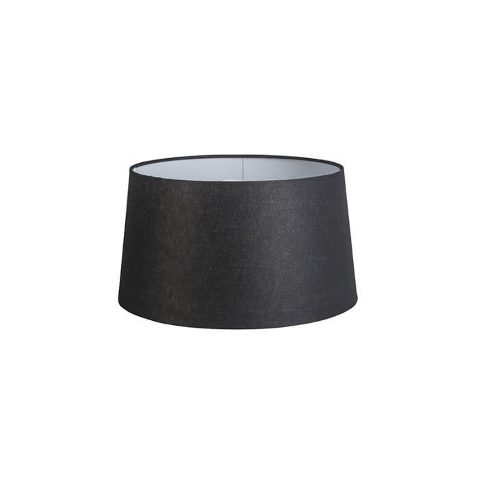 Kap-40cm-rond-DS-E27-linnen-zwart