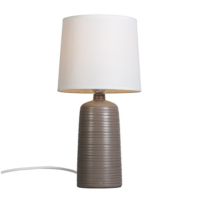 Tafellamp-Ceramic-taupe