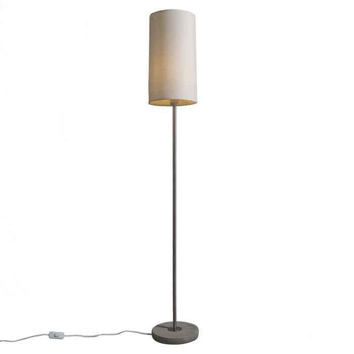 Vloerlamp-Concreto-licht-taupe