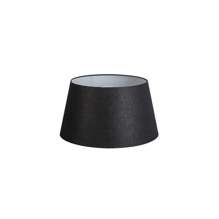 Kap-32cm-rond-DS-E27-linnen-zwart