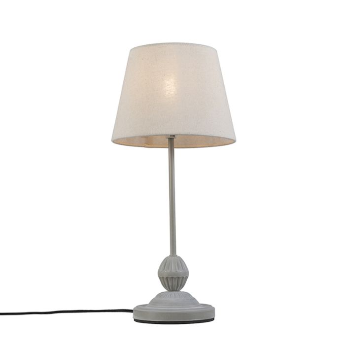 Klassieke-tafellamp-grijswit---Charm